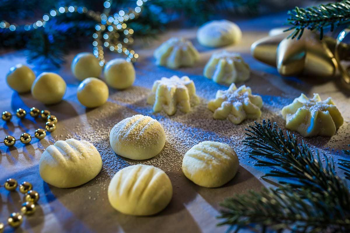 Weihnachtskekse Leicht.Vegane Schneeflöckchen