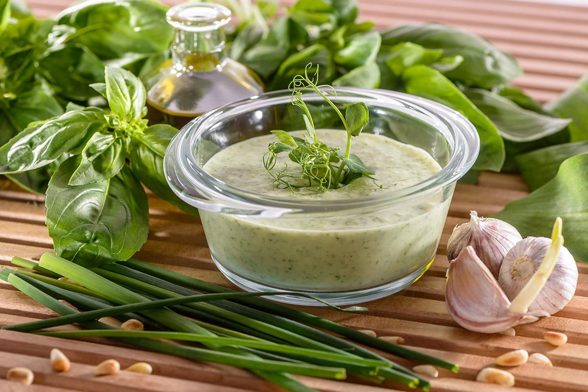 Pesto-Schaumsuppe