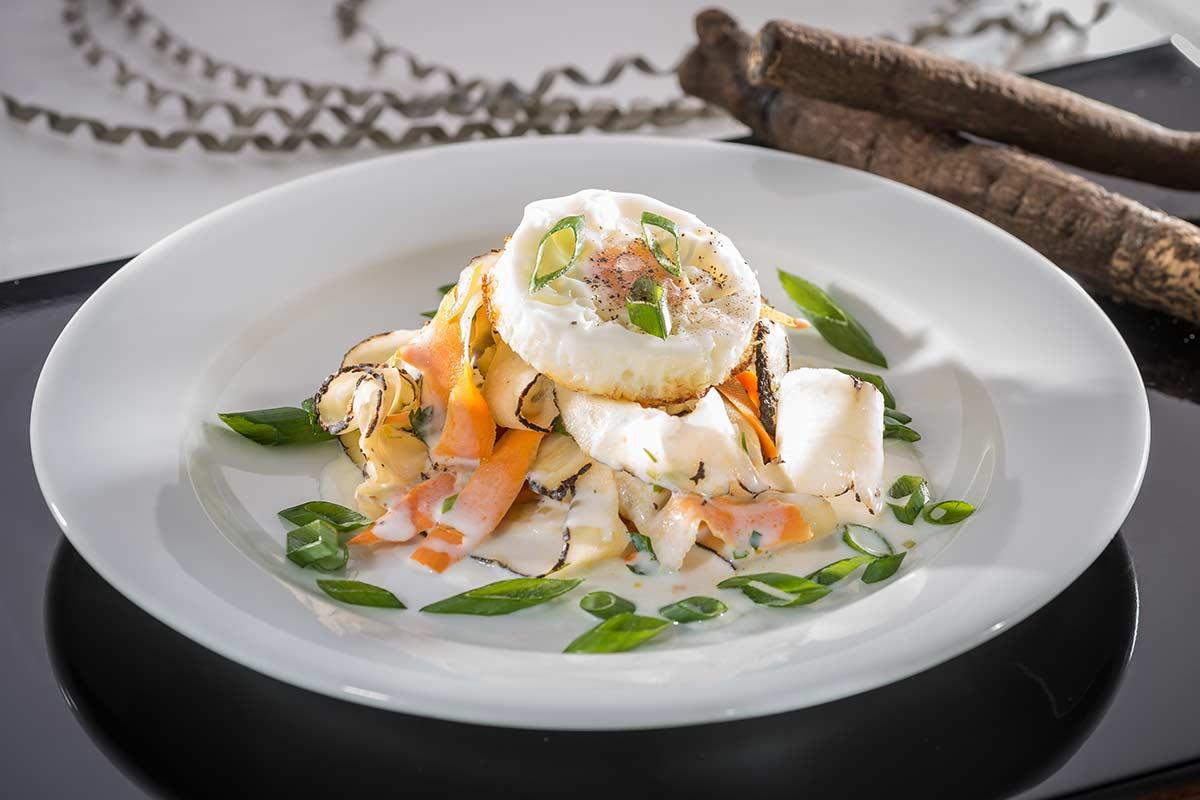 Schwarzwurzel Süßkartoffel Gemüse Mit Setz Ei Rezept