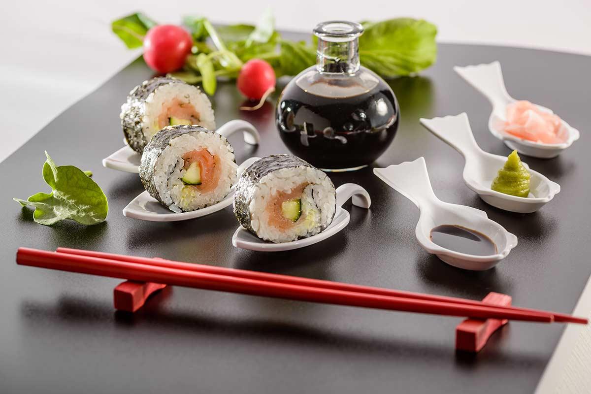Maki Sushi Mit Raucherlachs Rezept